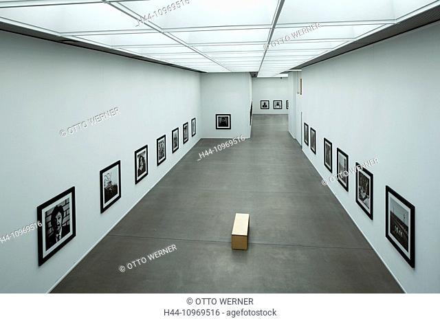 Germany, Europe, Bochum, Ruhr area, Westphalia, North Rhine-Westphalia, art collection, art museum of Bochum, inside view, showroom, exhibit, Anton Corbijn
