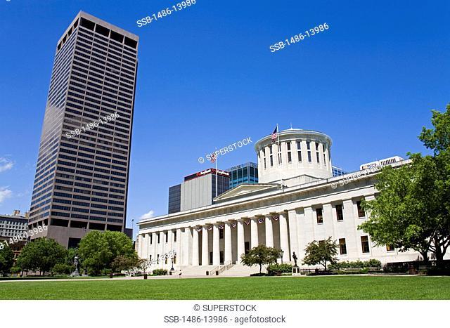Facade of a government building, Ohio Statehouse, Columbus, Ohio, USA