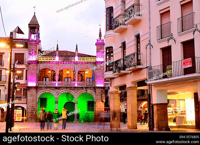 City council in Main square, Plasencia, Caceres, Spain