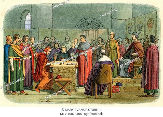Edward I is recognised as overlord of Scotland; claimants to the Scottish throne agree to abide by his arbitration