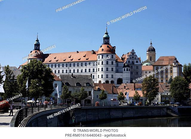Neuburg Castle, Neuburg an der Donau, Neuburg-Schrobenhausen district, Upper Bavaria, Bavaria, Germany / Schloss Neuburg, Neuburg an der Donau