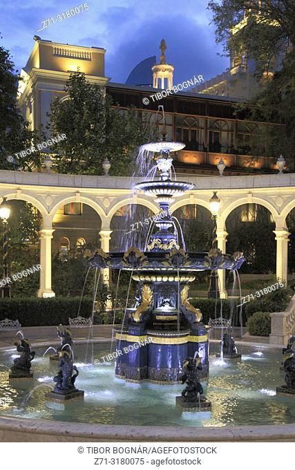 Azerbaijan, Baku, Philharmonic Fountain Park,