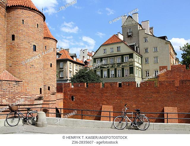 Warsaw Barbican, medieval fortification in the capital city of Poland