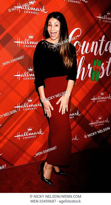 Hallmark's 'Christmas at Holly Lodge' screening at 189 The Grove Drive - Arrivals Featuring: Larissa Wohl Where: Los Angeles, California