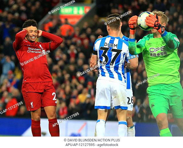 2019 EPL Premier League Football Liverpool v Huddersfield Town Apr 26th. 26th April 2019, Anfield, Liverpool, England; EPL Premier League football
