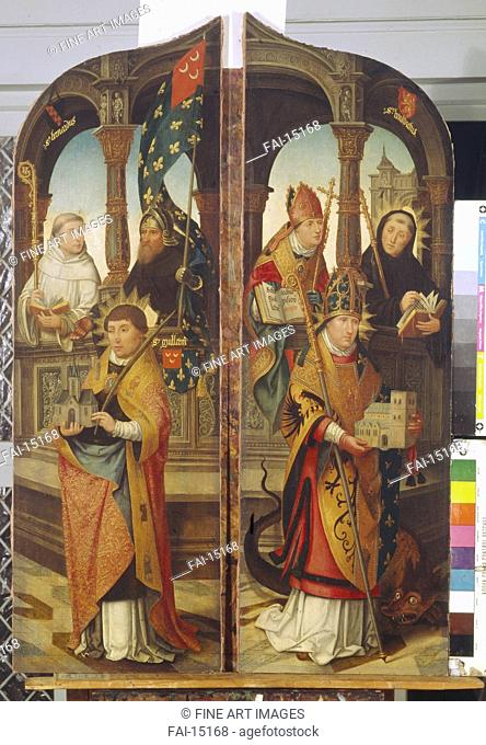 Saint Trudo and Saint Guillaume. Two side panels of the Triptych. Bellegambe, Jean (1470-1534). Oil on canvas. Early Netherlandish Art. 1517