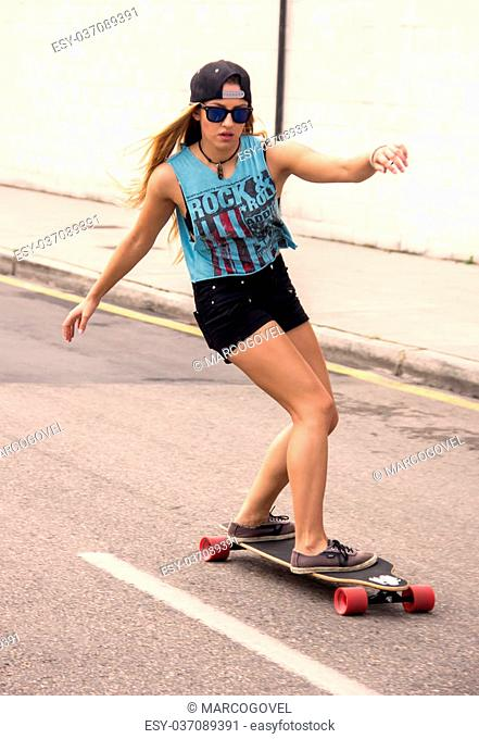 Portrait of a beautiful skater girl