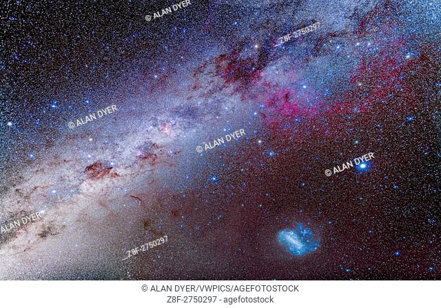 Constellations of the southern hemisphere Stock Photos and