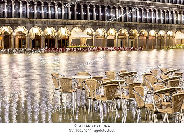 Flood, Acqua Alta, St Mark's Square, Venice, Italy