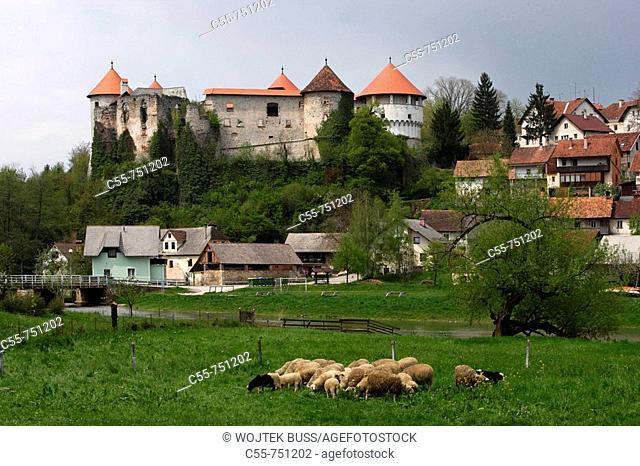 Zuzemberk, castle, 13th-15th century, Krka River Valley, Slovenia