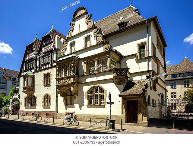 Marzolff house at Lycée des Pontonniers international high school Strasbourg Alsace France