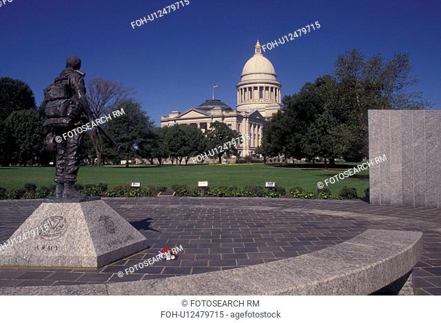 Little Rock, AR, Arkansas, Vietnam War Memorial at the Arkansas State Capitol