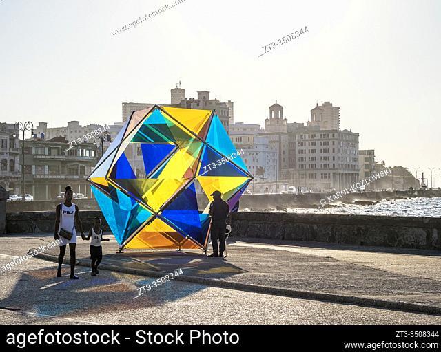 Havana Biennial Art Exhibition, El Malecon, Havana, La Habana Province, Cuba