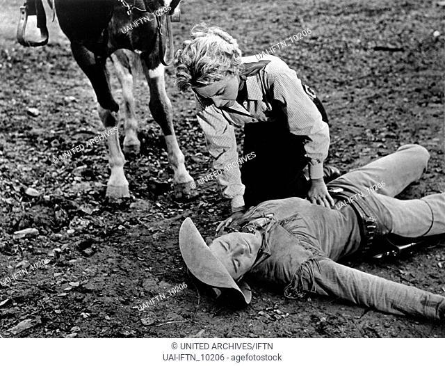 Gunslinger, aka: Sonntag sollst Du sterben, USA 1956, Regie: Roger Corman, Darsteller: Beverly Garland, Dick Miller