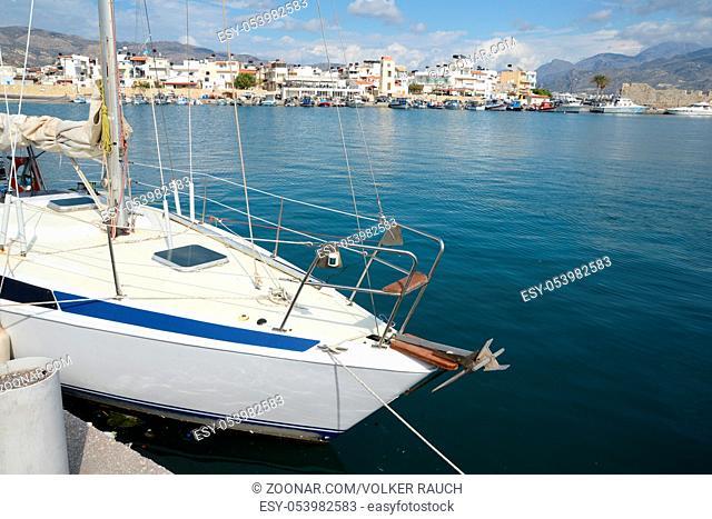ierapetra, kreta, küste,segelboot, segelschiff, griechenland, mittelmeer, fischerboot, boot, boote