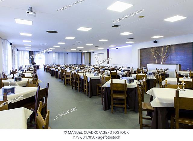 Dining room in restaurant Urrunaga. Legutiano, Alava, Basque Country, Spain