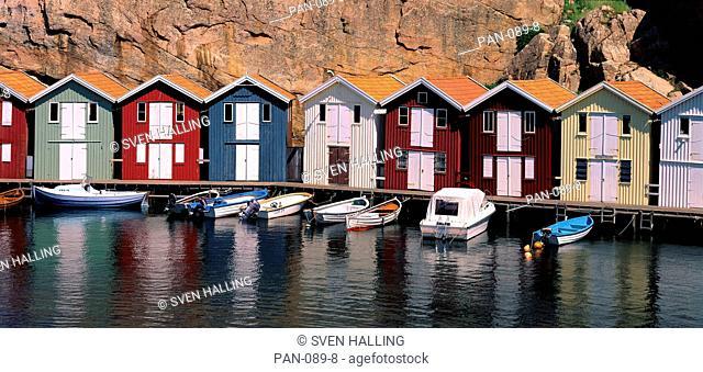 Fishing Houses in summer, Smoegen, Sweden