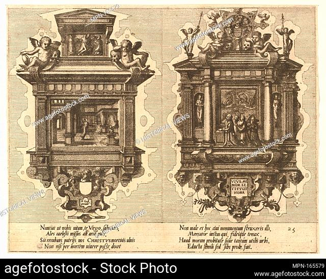 "CÅ""notaphiorum (25). Artist: Hans Vredeman de Vries (Netherlandish, Leeuwarden 1527-1606 (?) Antwerp (?)); Artist: Engraved by Johannes van Doetecum the elder..."