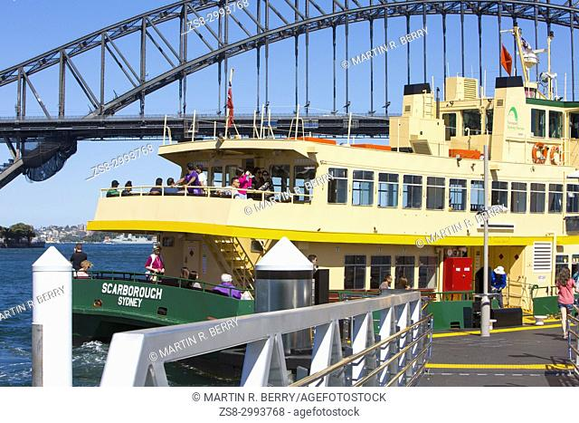 Iconic Sydney ferry travelling on Sydney harbour,New South Wales,Australia