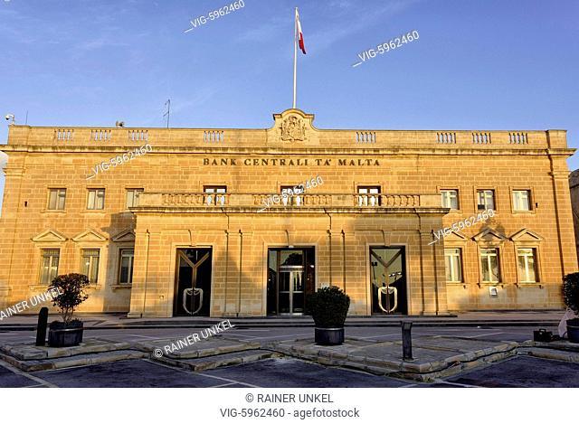 MLT , MALTA : Central Bank of Malta in Valletta , 14.01.2018 - Valletta, Southern Harbour, Malta, 14/01/2018