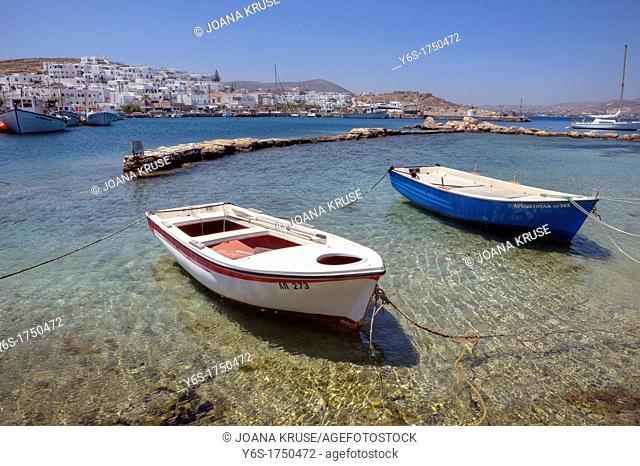 Fishing port of Naoussa, Paros, Greece