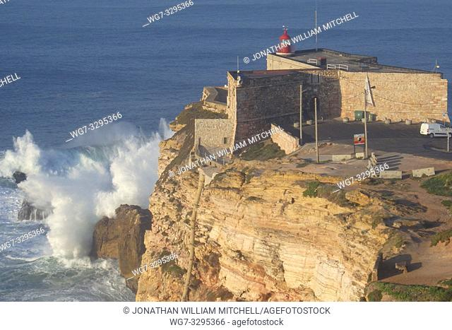 PORTUGAL Nazare -- 07 Jan 2015 -- Since professional surfers began breaking records in 2011, the Farol da Nazare (Nazare lighthouse) situated on the Forte de...
