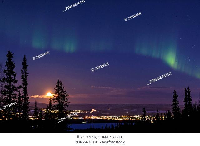 Northern lights above Gaellivare, Lapland, Sweden