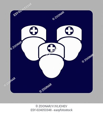 Medical Staff Flat Button
