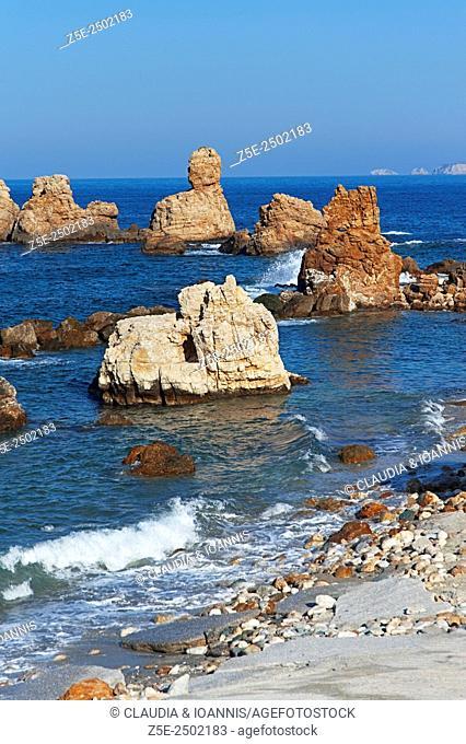 Rocky bay on Pelion Peninsula, Thessaly, Greece