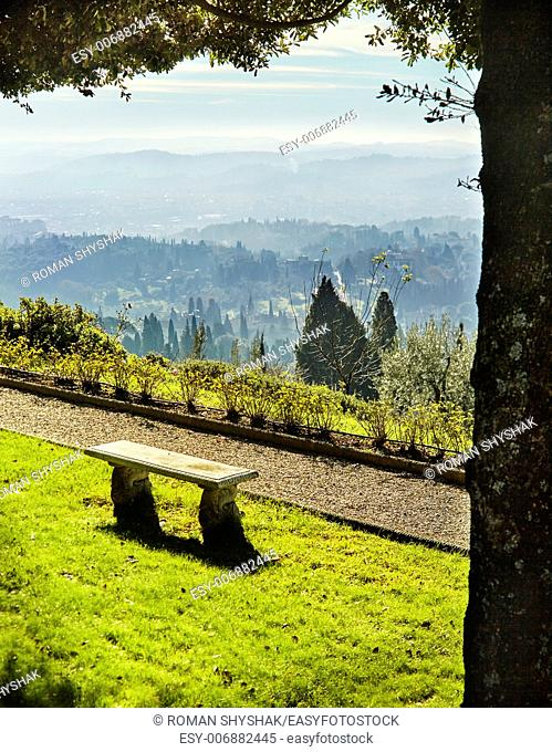 Fiesole . An ancient Etruscan village that overlooks Florence