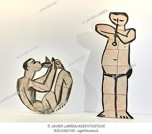 """""""Jouer de diable assis"""" et """"Jouer de flûte debout"""", 1958, Pablo Picasso, Picasso Museum, Paris, France, Europe"""