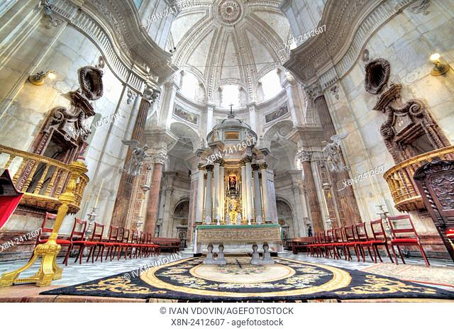 Cathedral interior, Cadiz, Andalusia, Spain