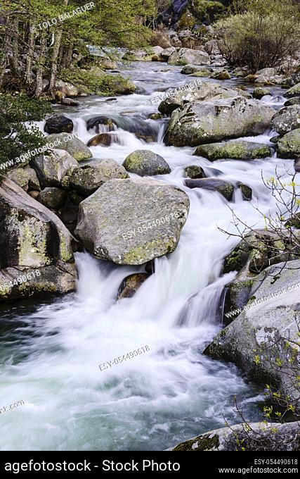 Los Pilones, reserva natural Garganta de los Infiernos, sierra de Tormantos, valle del Jerte, Cáceres, Extremadura, Spain, europa