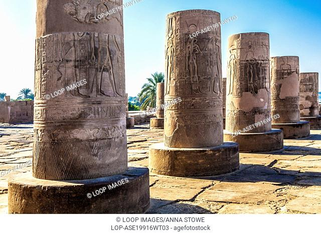 The ancient Egyptian temple at Kom Ombo on the banks of the River Nile