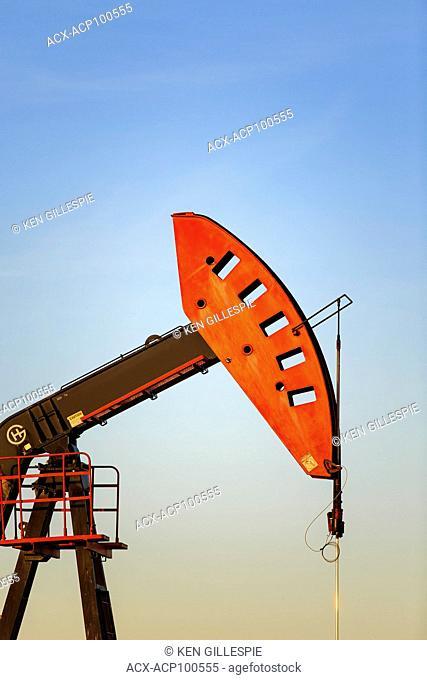 Oil well pump jack, near Estevan, Saskatchewan, Canada