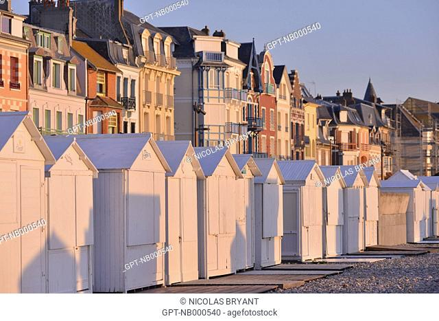 BELLE EPOQUE STYLE VILLAS, TRADITIONAL HOUSES OF MERS-LES-BAINS,SOMME (80), PICARDIE, FRANCE