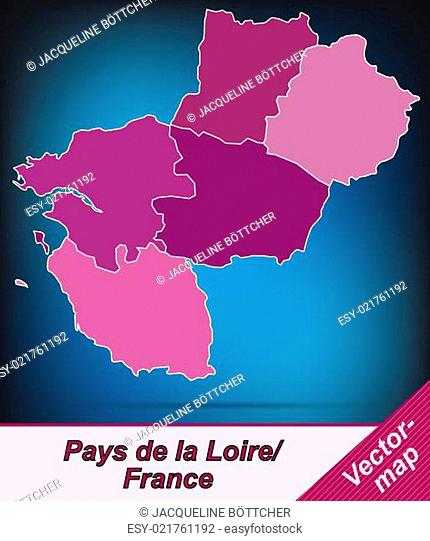Map Of Pays De La Loire Stock Photos And Images Agefotostock
