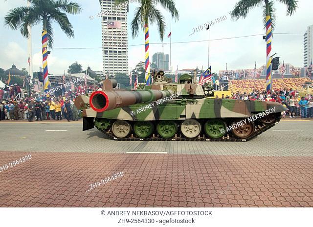 Column of military armored vehicles parade 16 September - Hari Merdeka (Independence Day) Kuala Lumpur, Malaysia