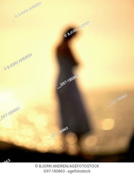 Woman, silhouette