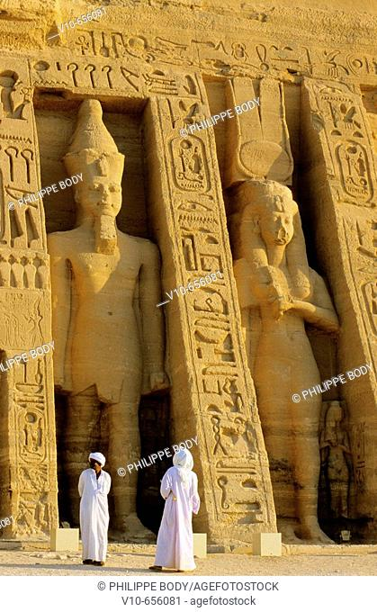 Abu Simbel temple, entrance, near Aswan, Egypt