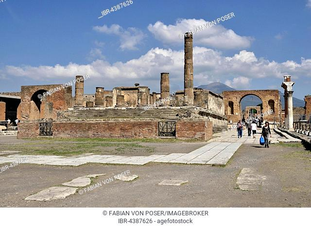 Forum, ancient city of Pompeii, Campania, Italy