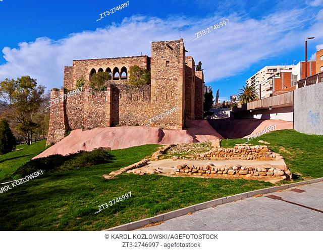 Spain, Catalonia, Barcelona Province, Terrassa, View of the Castle of Vallparadis.