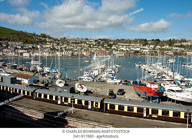 europe, uk, england, devon, Dartmouth harbour train