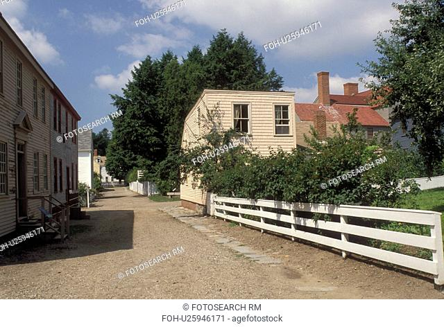 Portsmouth, NH, New Hampshire, Jefferson Street at Strawberry Banke Museum in Portsmouth