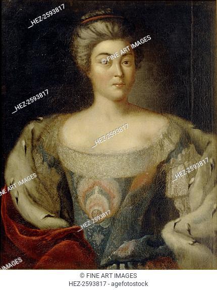 Portrait of Princess Alexandra Kurakina, née Panina (1711-1786). Found in the collection of the Regional Art Gallery, Tver