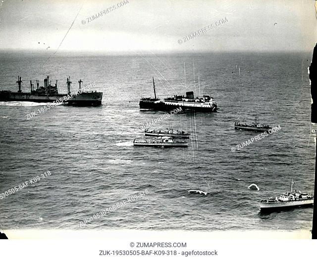 May 05, 1953 - Ship with 507 Aboard cut in two in craft. The British Rail ways steamer, Duke of York, (4190 tons), with 437 passengers and 70 crew