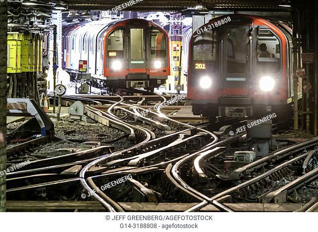 United Kingdom Great Britain England, London, Lambeth South Bank, Waterloo Underground Station, Waterloo & City Line, tube subway public transportation, trains