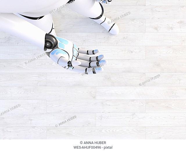 Hand of a robot, 3d rendering