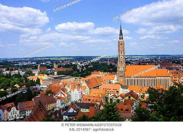 Basilica of St. Martin in Landshut, Bavaria, Lower Bavaria, Germany, Europe