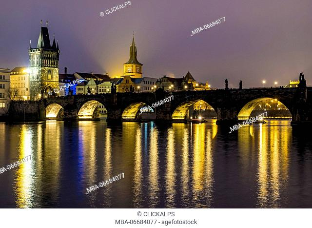 Charles Bridge, Prague, Czech Republic, Europe